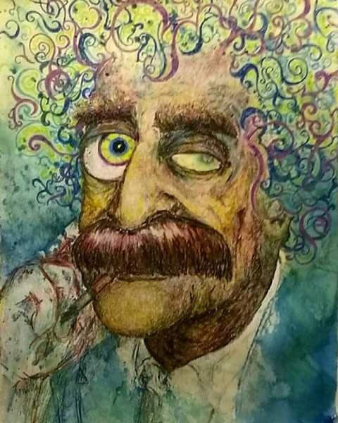 Kurt Vonnegut - Ryan Fagan Art