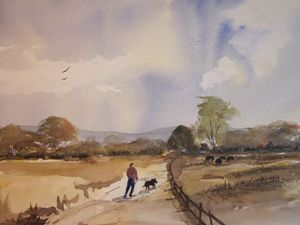 Country Walk 578 - Mark Jenkins Watercolors