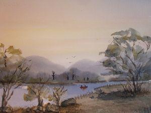 Fishing the River 603 - Mark Jenkins Watercolors
