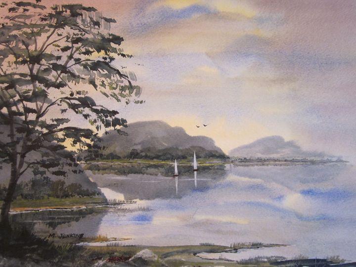 Sailing the Lake 631b - Mark Jenkins Watercolors