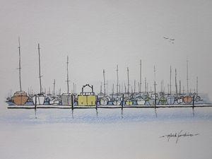 Redwood City Marina 312 - Mark Jenkins Watercolors