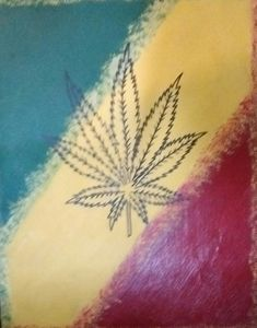 Rastafarian Pot Leaf