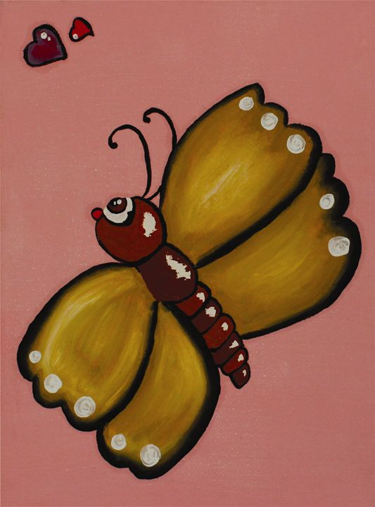 Wall Art: Butterfly in Pink - Vanessa