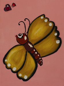 Wall Art: Butterfly in Pink