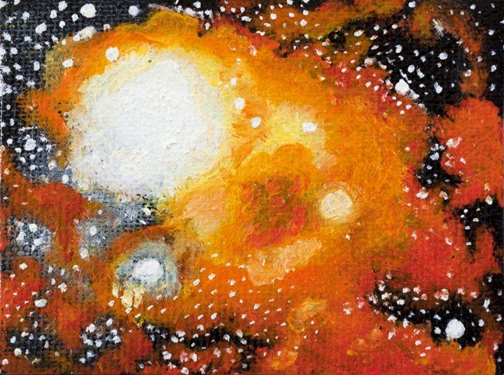 Heaven with stars yellow - Claudia Luethi alias Abdelghafar