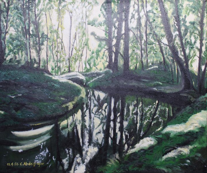 Forest playing with the sunlight - Claudia Luethi alias Abdelghafar