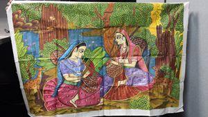 Traditional Indian women on Veena