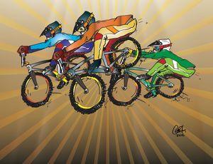BMX racers, BIG air.