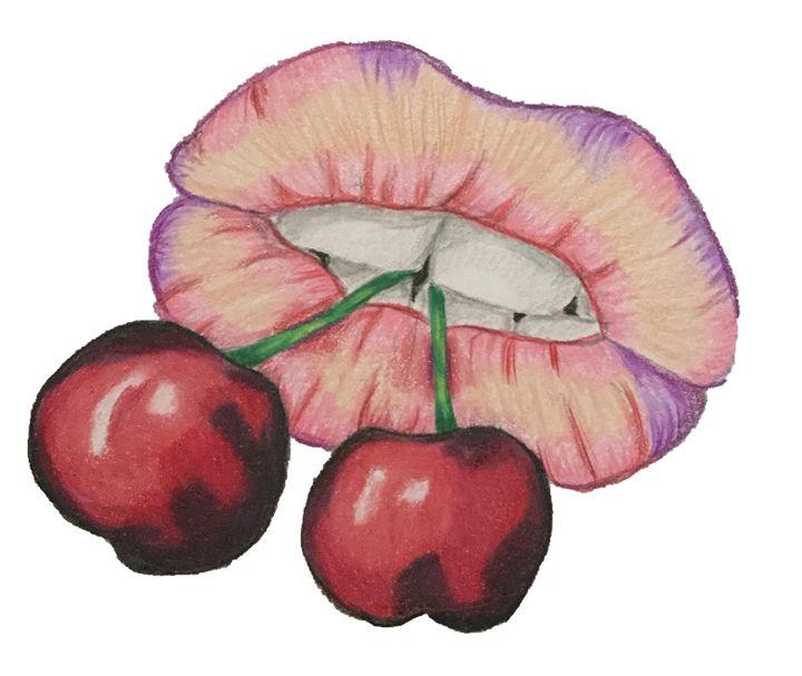 Cherry Lips - Art By Rhi Rhi