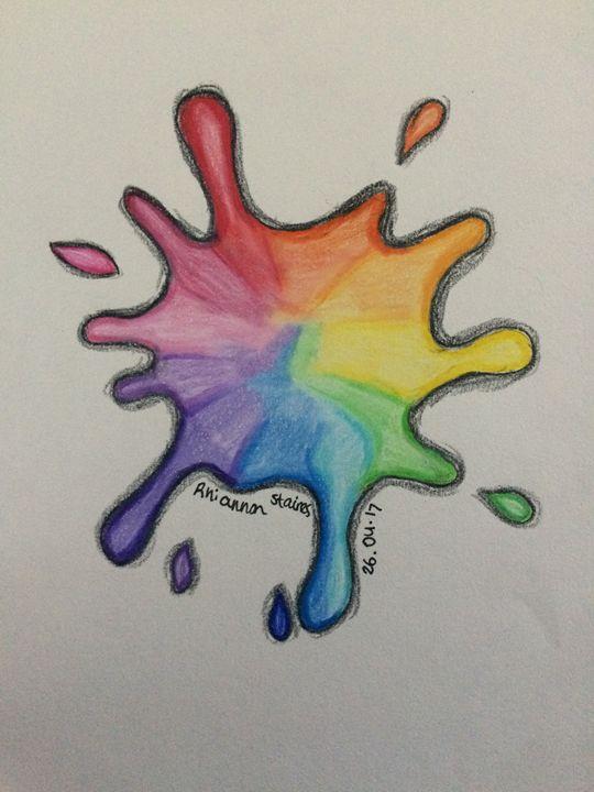 Rainbow Splatter - Art By Rhi Rhi