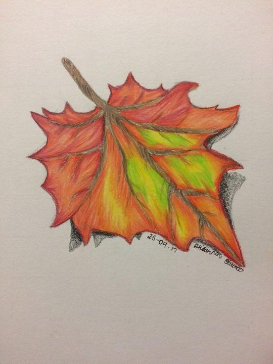 Fall Leaf - Art By Rhi Rhi