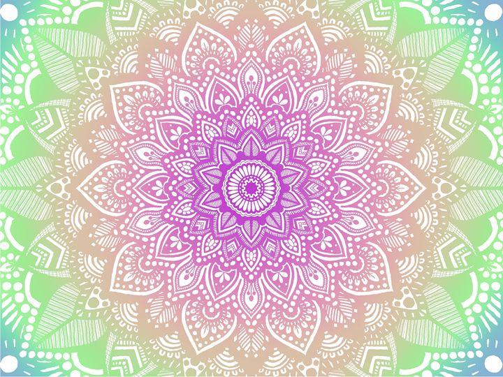 Rainbow Mandala - Art By Rhi Rhi