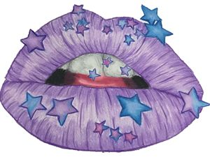 Purple Star lips
