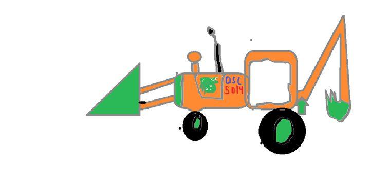 DSC 5014 back hoe tractor - DSC gallery