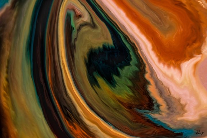 Umber Swirl - An Abstract World - Artwork by Paul Steele