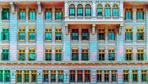 Colorful building facade