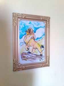 GLASS PAINTING (LION)