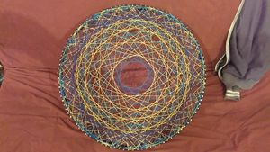 Deep Night, Original string art - Net of Indra