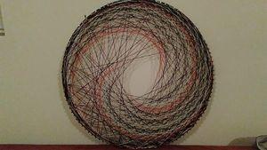 Spiral Impact, Original string art - Net of Indra