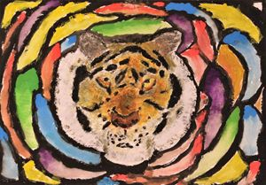 Tiger in thousand colors