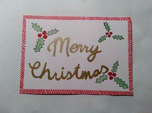 Christmas handmade postcard - Romana crafts