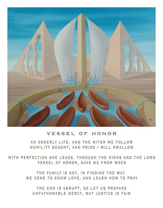 Vessel of Honor - with poetry - Eddie Vendetti