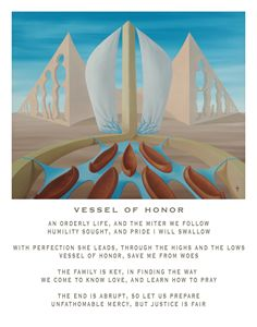 Vessel of Honor - with poetry