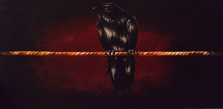 Crow on a wire - Franklin studios