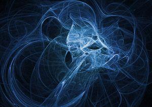Shades of Blue Plasma Fractal