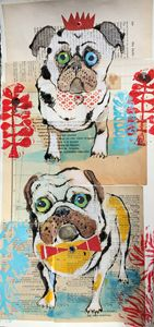 Pug Siblings - Karen Stanton Gallery