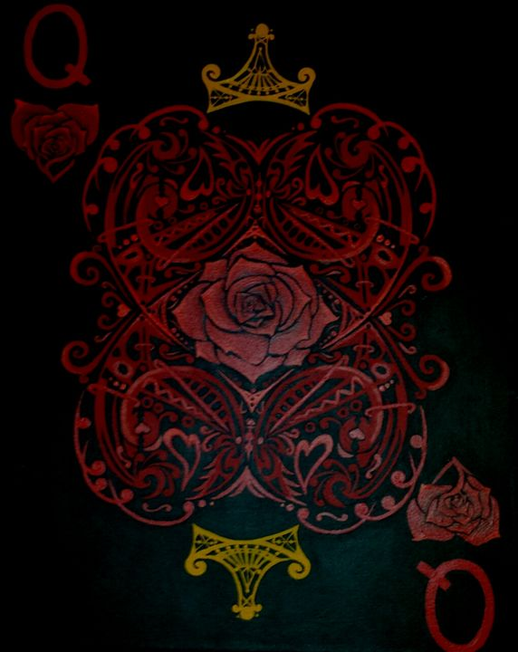 """""""Abstract Alice"""" (Queen Of Hearts) - Art by Nichole"""