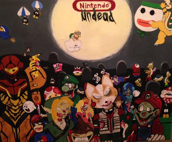 Nintendo Undead (color) - Art by Nichole