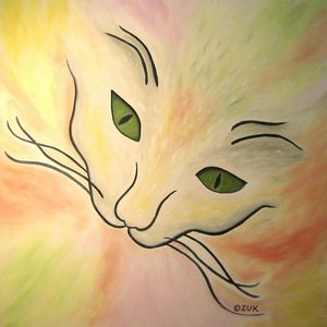 Essence of Cat - Art by Karen Zuk Rosenblatt
