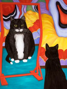 Fun House Fat Cat - Art by Karen Zuk Rosenblatt