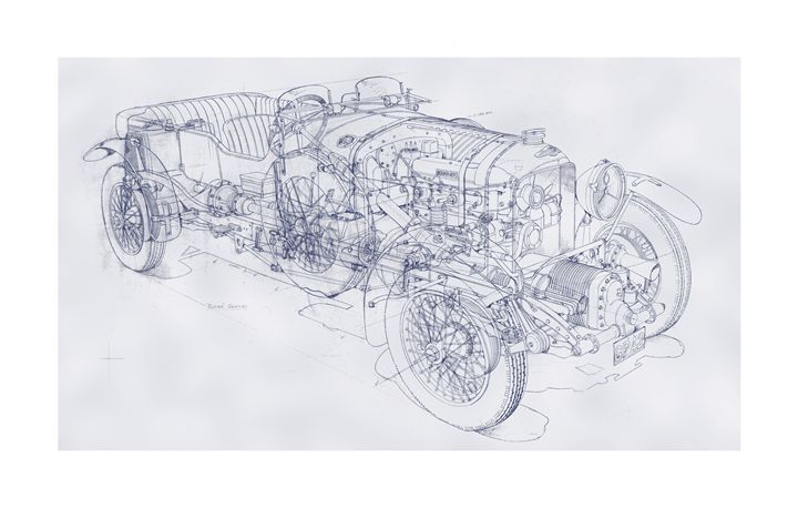 Blower Bentley Pencil Drawing - Matthew Jennings