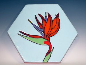 Ceramic Paver Tile  Bird of Paradise