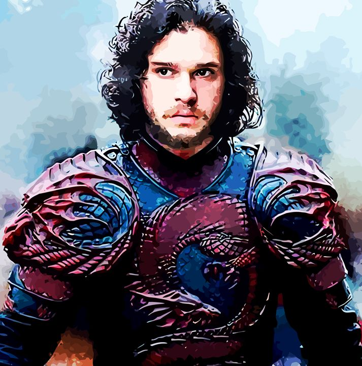 """ John Snow "" - ( Joe Digital & Co ) art.likesyou.org"