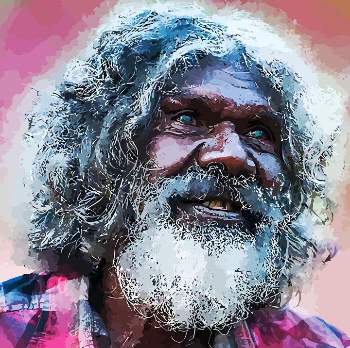 """ Aboriginal Gentleman "" - ( Joe Digital & Co ) art.likesyou.org"
