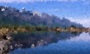 Mountain Lake Cubism
