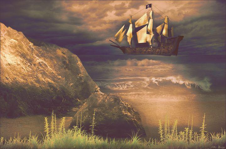 Pirate Treasure Retrieval - Art by Arthur Ramsey