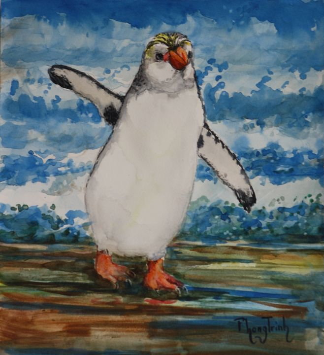 ROYAL PENGUIN - Phong Trinh Watercolor