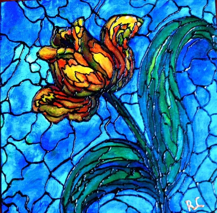 Yellow Tulip - Art by Rae Chichilnitsky