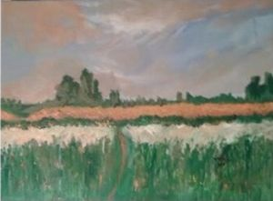 My acrylic version of a Monets Field