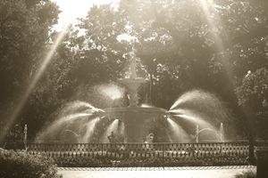 Forsyth Park Fountain Haze