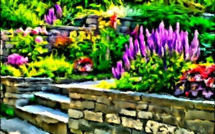 Delightful Garden - Prints by Michel