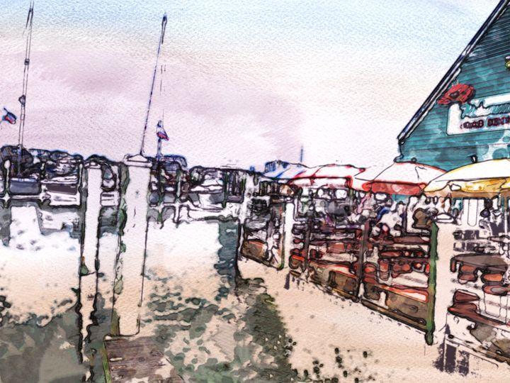 Dock Scene - Prints by Michel