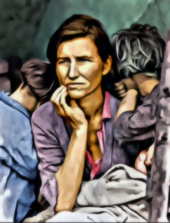"""""""Migrant Mother"""" - Prints by Michel"""
