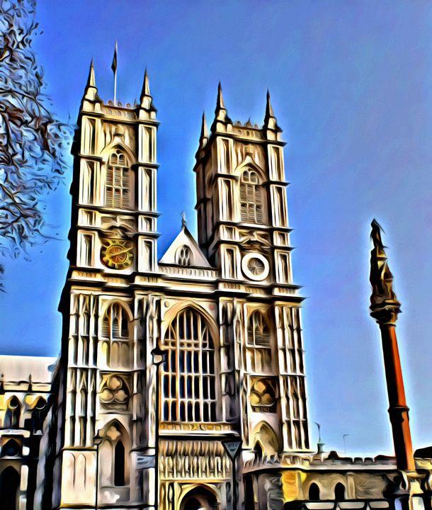 Westminster-Abbey in London - Prints by Michel