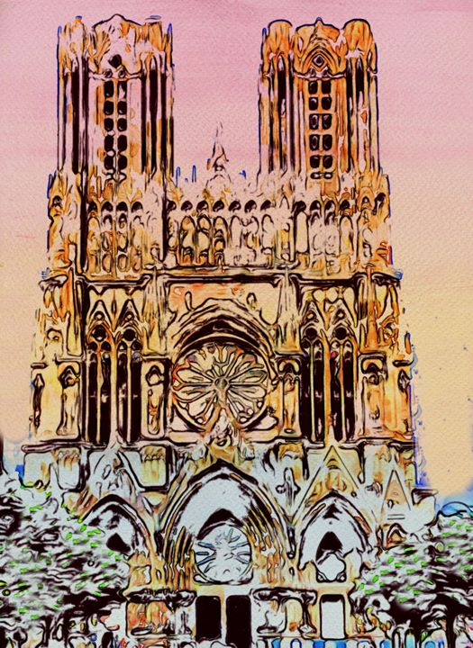 Cathedral in Reims - Prints by Michel