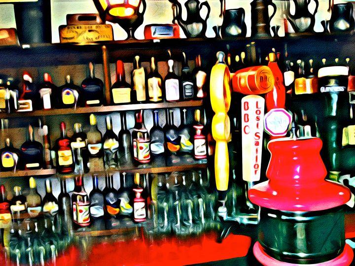 Quaint Bar Scene - Prints by Michel